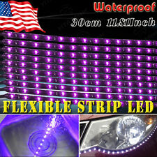 YITA 10x 12V Car Motorcycle 15 LED 30CM Waterproof Pink Flexible Light Strip Bar