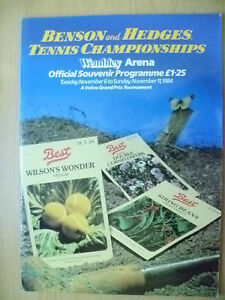 Tennis Memorabilia- 1984 Tennis Championships Official Souvenir Programme, 6 Nov