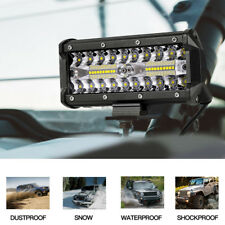Tri Row 7 inch 120W LED Work Light Bar Spot Offroad 4WD SUV Driving Strip Light