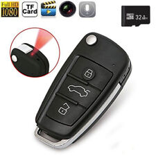 32G 1080P HD Spy Camera Car Key Chain Hidden Audio Recording IR Night Vision DVR