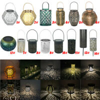 LED Solar Lantern Retro Hanging Outdoor Waterproof Solar Light Garden Decor Lamp