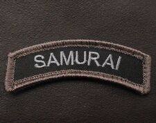 SAMURAI ARMY TAB ROCKER AIRSOFT BLACK OPS SWAT VELCRO® BRAND FASTENER PATCH