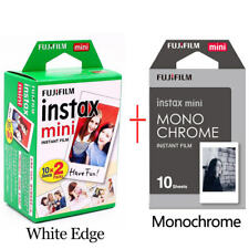 20films Instax White Film +10films Instax Monochrome film for Fuji Mini Camera