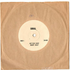 "BUDDY HOLLY - NOT FADE AWAY / MAYBE BABY - RARE TEST PRESSING 7"" 45 RECORD 1964"