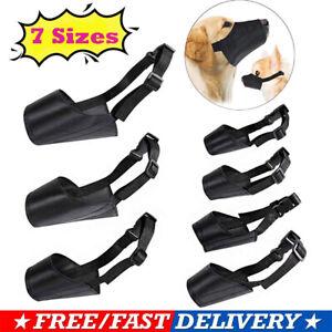 Dog muzzle muzzel pet puppy safety mouth cover adjustable stop bit chew bark nip