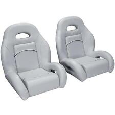 (Pair) Bass Boat Bucket Seats in Gray, with Black Accent