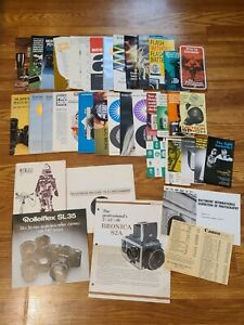 Lot Of 35 + Vintage Camera Brochures Catalogs Advertisements Olympus Vivitar MOR