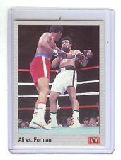 MUHAMMAD ALI  vs. GEORGE FOREMAN Boxing 1991 AW Sports Card