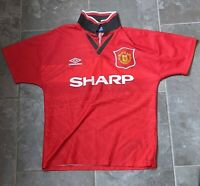 Genuine Vintage / Classic Manchester United Home Shirt 19945 1995 1996 Size Y