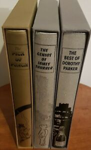 Job Lot Folio Society Books X3 With Slipcases Bundle The Genuis Of James Thurber