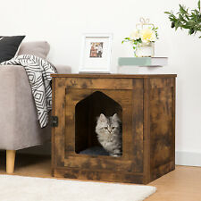 HOOBRO Katzenhaus Katzentoilette Katzenschrank Beistelltisch Nachtschrank Holz