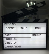 Light Up ClapperBoard Film Scene Light Box With Pen