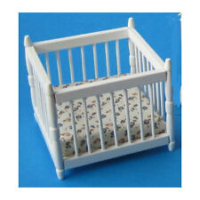 Creal 27471 Miniatur Laufgitter Laufstall weiß Holz 1:12 für Puppenhaus NEU!   #