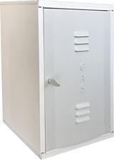 BOX CASSETTA LAMIERA ZINCATA PREVERNICIATA BIANCA CONTATORE GAS H450 L340 P240