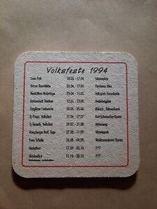 Bierdeckel 1994 - Volksfeste - Schultheiss