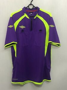 New Referee Umbro Football Soccer Trikot Jersey Shirt T-Shirt Tee M