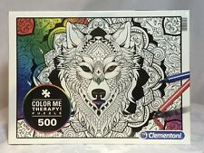 JIGSAW PUZZLE COLOR ME THERAPY WOLF 500PC CLEMENTONI - NEW & SEALED