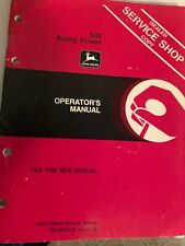 John Deere S9 to riding mower operators manual item 15