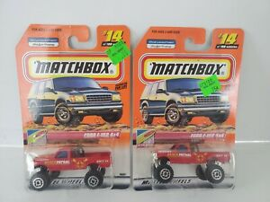 2000 Matchbox #14 Ford F-150 4x4 - Lot of 2- One W/MB 2000 Logo - One w/out