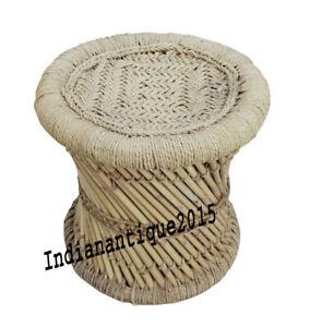 Nautical Natural Mudda Bamboo Stool