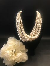 Vintage 5 Strand Pearl Necklace
