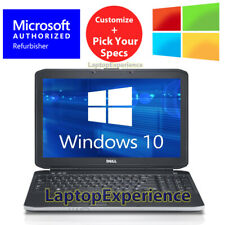 "DELL LAPTOP NOTEBOOK CORE 4GB-8GB 250GB-1TB HD SSD 15.6"" DVD WINDOWS 10 WiFi PC"