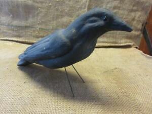 RARE Vintage Crow Decoy Glass Eyes > Antique Hunting Bird Gun Geese Hunt 10034