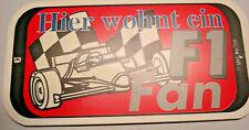 Türschild  Hier wohnt ein Formel 1  Fan    FussballFanartikel