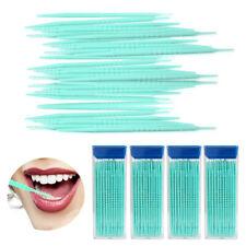 240 Pcs Interdental Brush Floss Sticks Tooth Floss Head Oral Cleaning Toothpicks