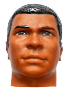 "1976 MUHAMMAD ALI 10"" black mego boxing figure -- HEAD tbn"