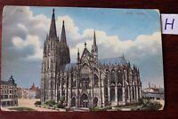 Postkarte Ansichtskarte Nordrhein- Westfalen Lithografie Köln Dom Südteile