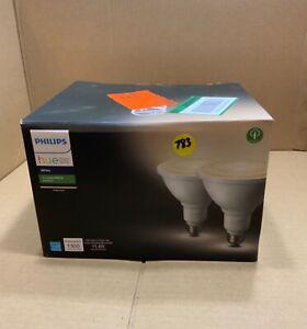 Philips Hue 476820 White Outdoor Bulbs PAR38 2 Pack lot#783