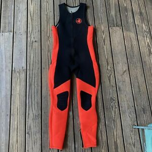 Mens Body Glove Wetsuit Red Black Infrared size Large Sleeveless Bodysuit 90s