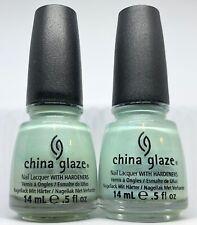 China Glaze Nail Polish Keep Calm Paint On 1146 Sea Foam Green Lacquer