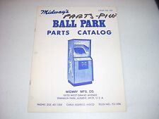 Midway Ball Park Parts Manual #589 1974 Ex condition 8 pgs