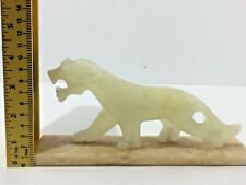 Panther statue hand carved marble very rare antique