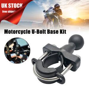 "Universal RAM Mount U-Bolt Motorcycle Handlebar Bike Rail Base 1"" Ball"