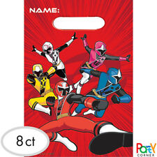 Power Rangers Party Supplies LOOT BAGS Lolly Bags Pack Of 8
