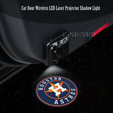 2x Houston Astros Logo Car Door Wireless LED Ghost Laser Projector Shadow Light