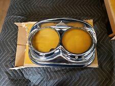NOS 1958 Chieftain Headlight Bezel Pontiac Headlamp Chrome Trim Catalina Grille