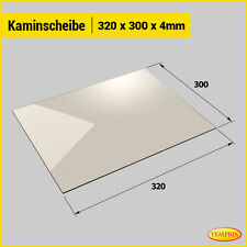 Kaminglas & Ofenglas 320 x 300 x 4 mm | Temprix | Wunschmaße auf Anfrage