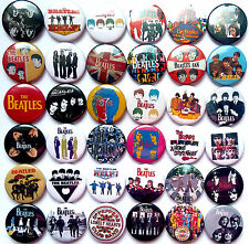 THE BEATLES Button Badges Pins Lennon Help Yellow Submarine Let It Be Lot of 36
