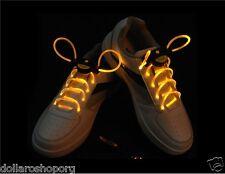 Paio di Lacci LED Scarpe Luminosi Stringhe FLASH LIGHT SHOES solor GIALLO scarpa