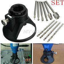 4 Drill Bit +6 HSS Wood Milling Burrs + 1Drill Carving Rotary Locator For Dremel