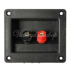 2 Way Speaker Box Terminal Binding Post Round Cup Spring Clip Wall Plate Socket