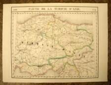 PARTIE DE LA TURQUIE ANKARA Carte géographique d'Asie VANDERMAELEN 1827 old map
