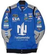 Nascar Dale Earnhardt JR NationWide Cotton Jacket JH Design Royal L