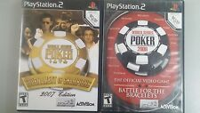 Playstation 2 Ps2 world series of poker 2007, 2008 Complete games  Free S/H!