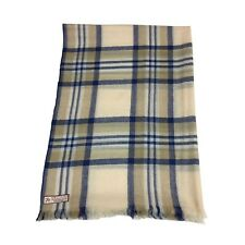 ARCIERI men's scarf check beige/blue SZSTMI01 60%cashmere 40%wool MADE IN NEPAL