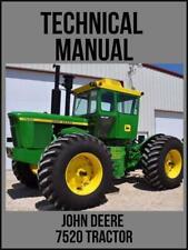 John Deere 7520 Tractor Technical Manual Tm1053 Usb Drive